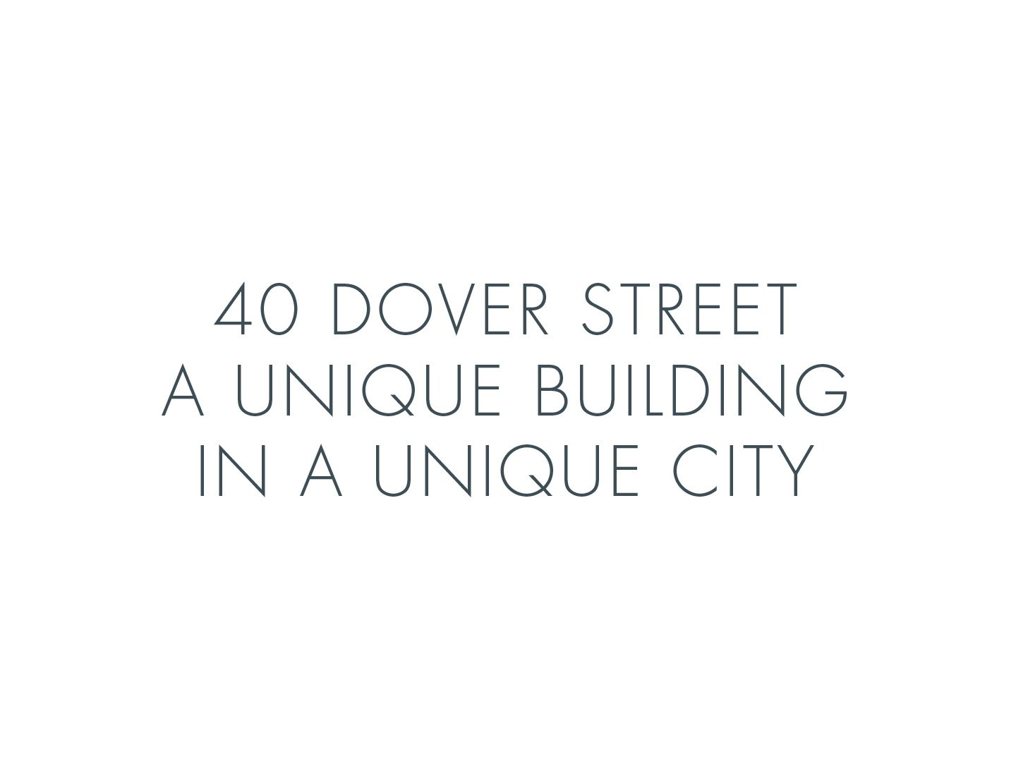 The Arts Club, 40 Dover Street Brochure Quote