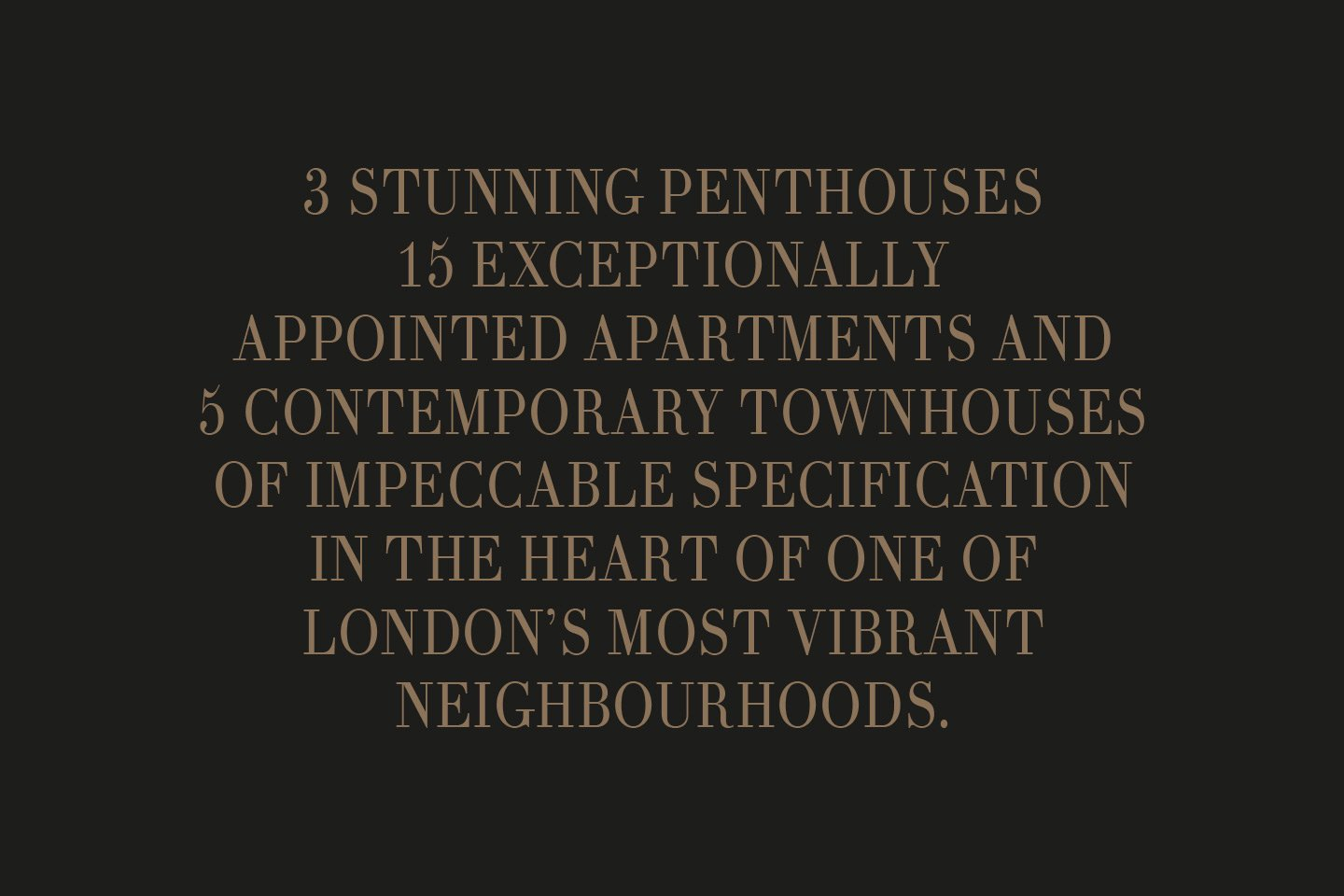 The W1 London Quote From Brochure
