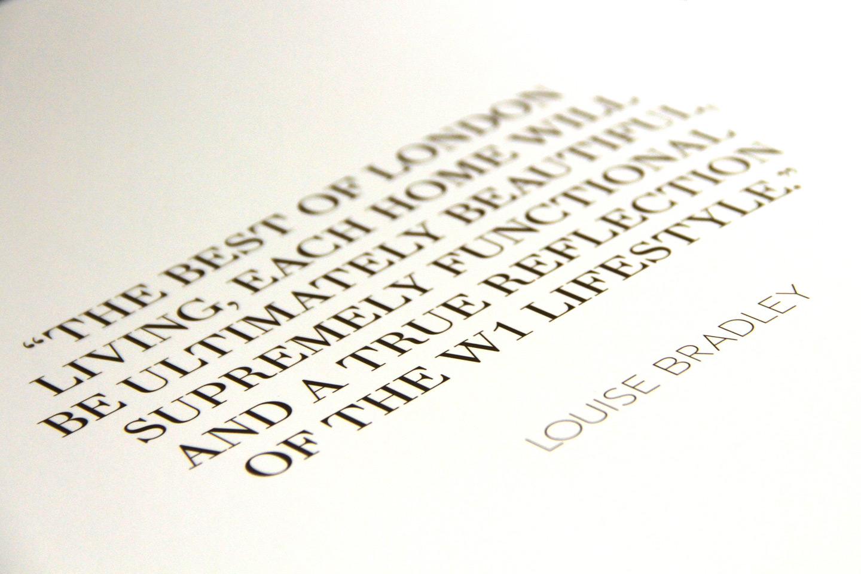 The W1 London Book Copy