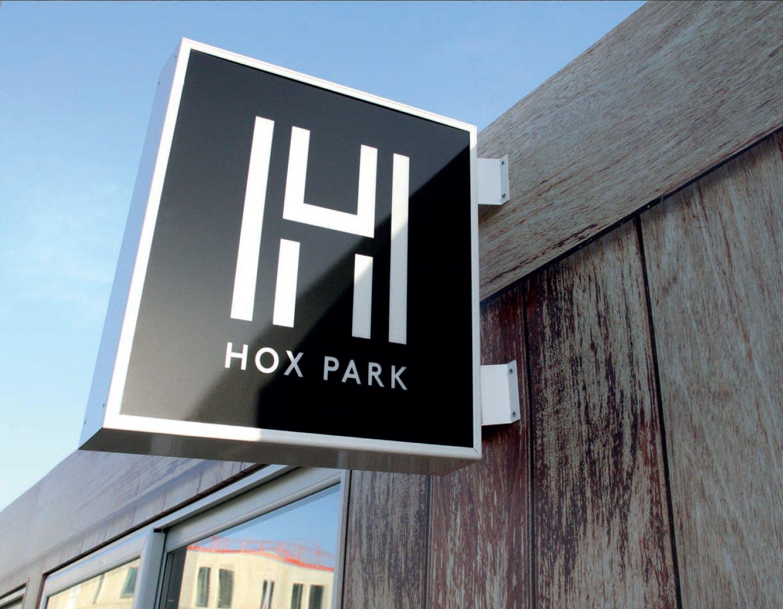 Hox Park Sign