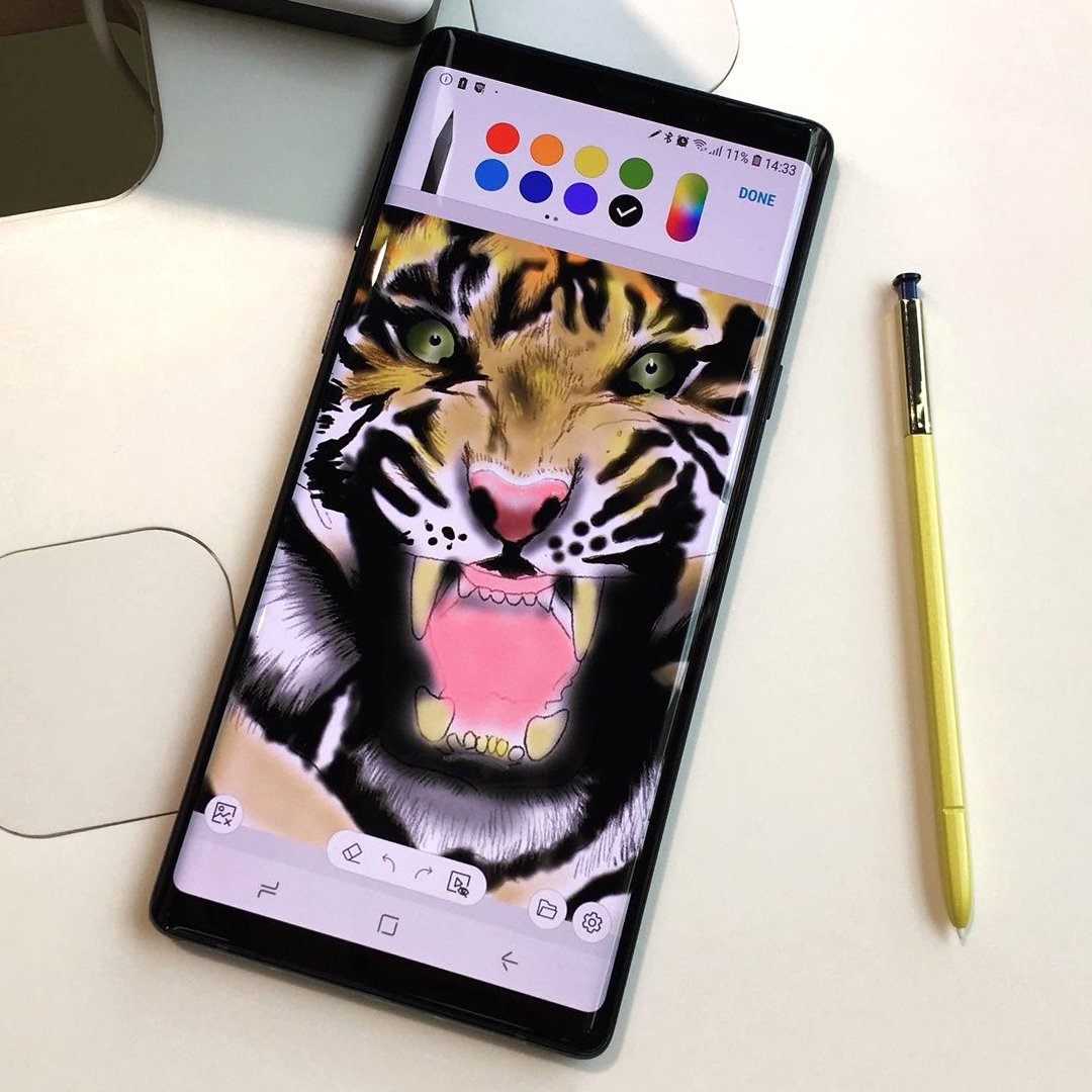 Illustrated image using the new Samsung Note 9