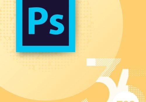Photoshop logo on our 35 year celebration background