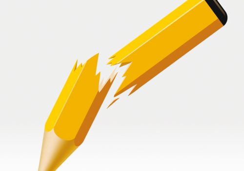 Snapped Yellow Pencil