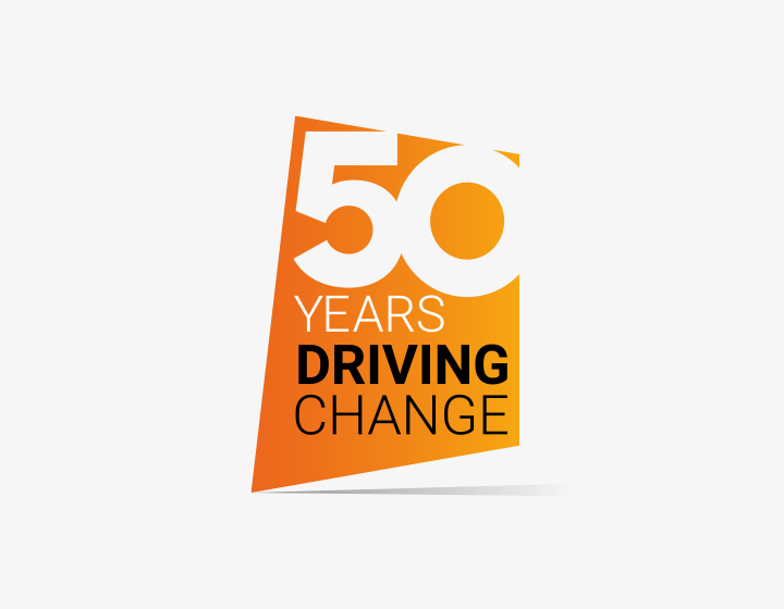 50 Years of Driving Change logo