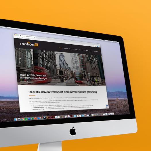 Apple Mac Highlighting Motion's Website