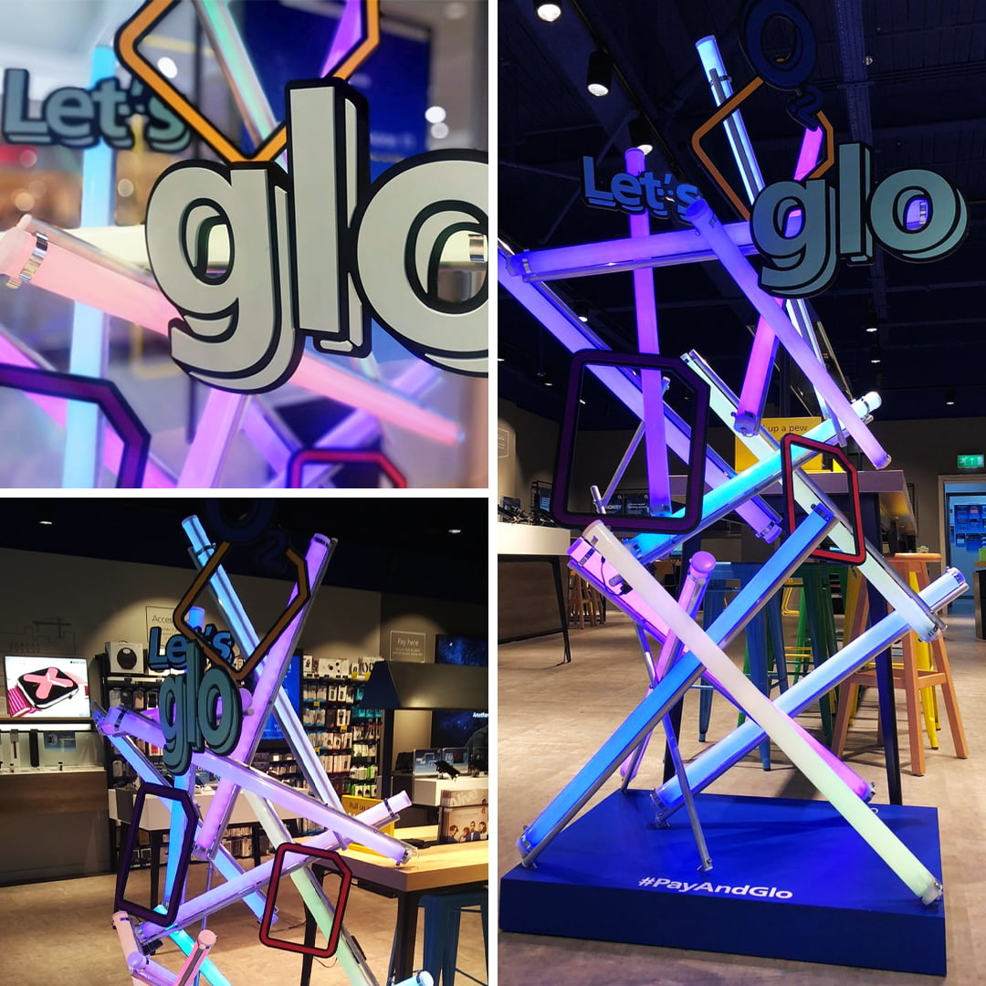 O2 Pay & Glo in-store launch and installation