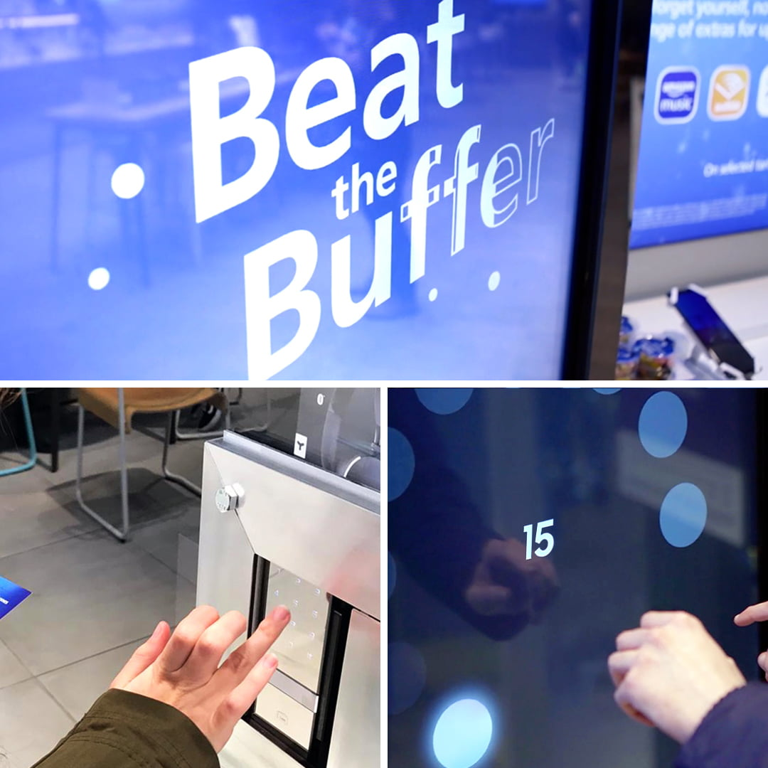 Samsung 5G beat the Buffer campaign in O2