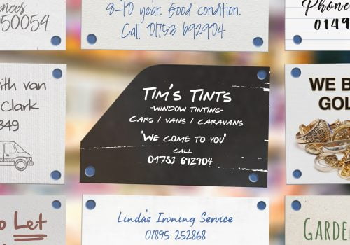 Chip Shop Awards entry 'Tim's Tints', a contrasting black card with a curved corner mimicing a tinted car window
